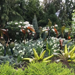 The beautiful garden at the museum, I was extremely fascinated by the beautiful work done here.