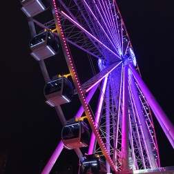My dad and I went to the Great Wheel at night. The lights were so awesome and it was a lot of fun.